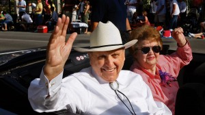 President Thomas S. Monson and his late wife, Sister Frances Monson, ride in the Days of '47 parade in Salt Lake City in 2012. Family members of general authorities often experience conference differently than other LDS member families. (Mormon Newsroom)