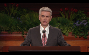 Bishop Gerald Causse speaks about making the gospel wonderful at the the 185th Annual General Conference of The Church of Jesus Christ of Latter-day Saints. (LDS.org)