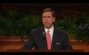 Elder Kevin W. Pearson speaks at the concluding session of the 185th Annual General Conference on Sunday, April 5. (LDS.org)