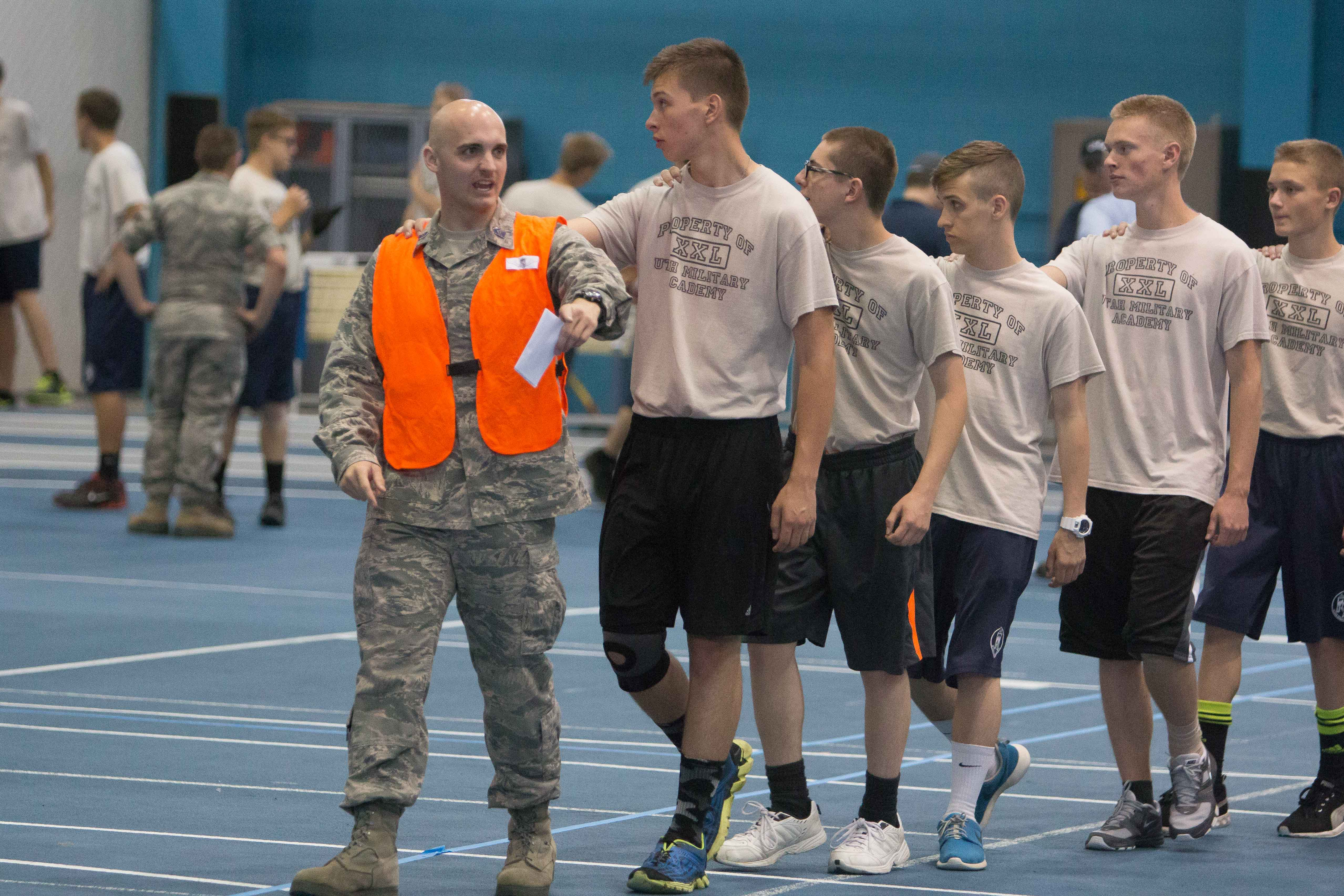 Wonderful BYU ROTC Students And High School Students From Around Utah Interact At  BYUu0027s ROTC Competition/event. (Maddi Dayton)