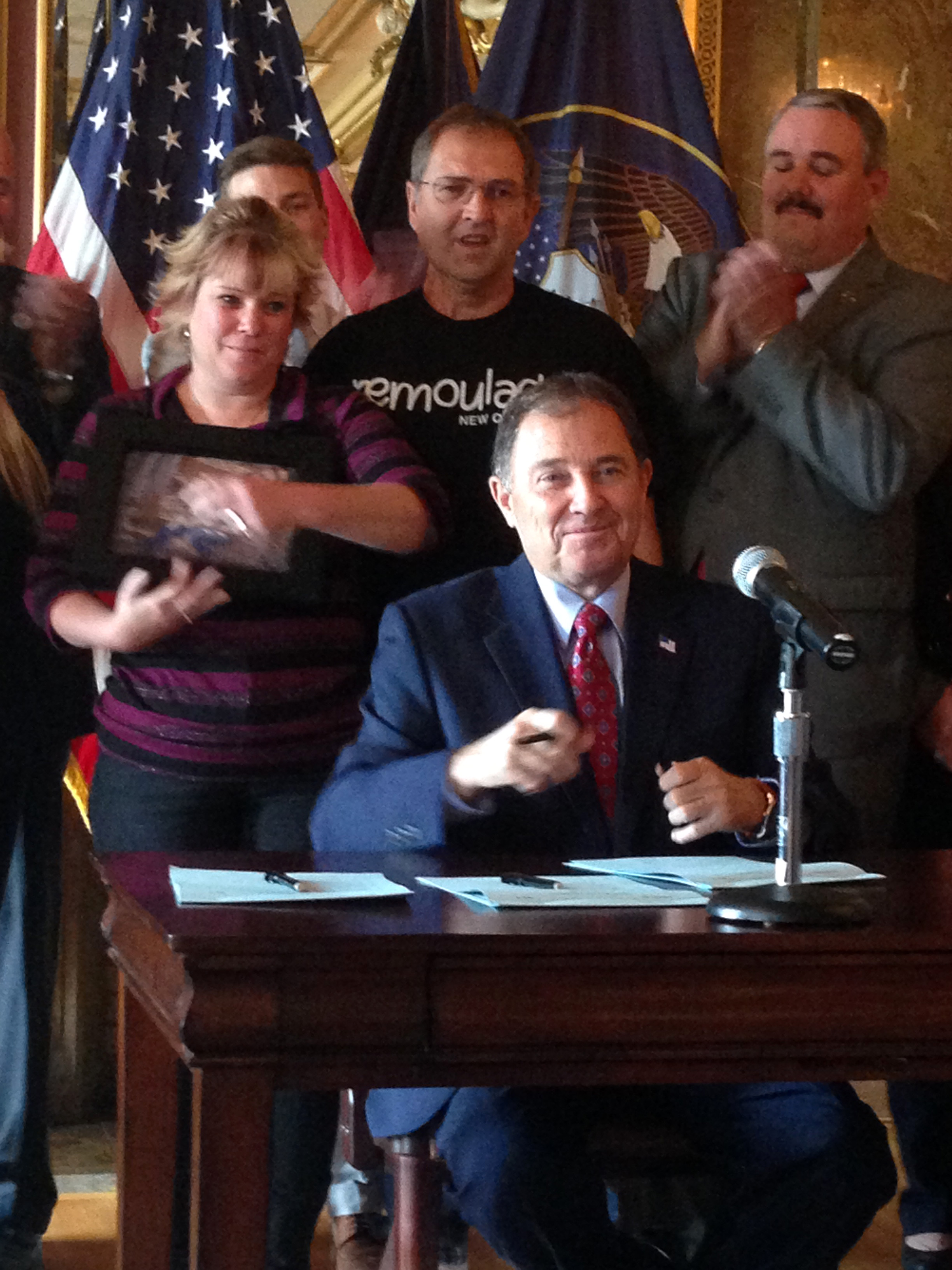 A Brigham City Family That Lost Teenage Daughter In Car Accident Celebrates As Gov Herbert Signs Ceremonial Copy Of HB 79 Law Creates Harsher