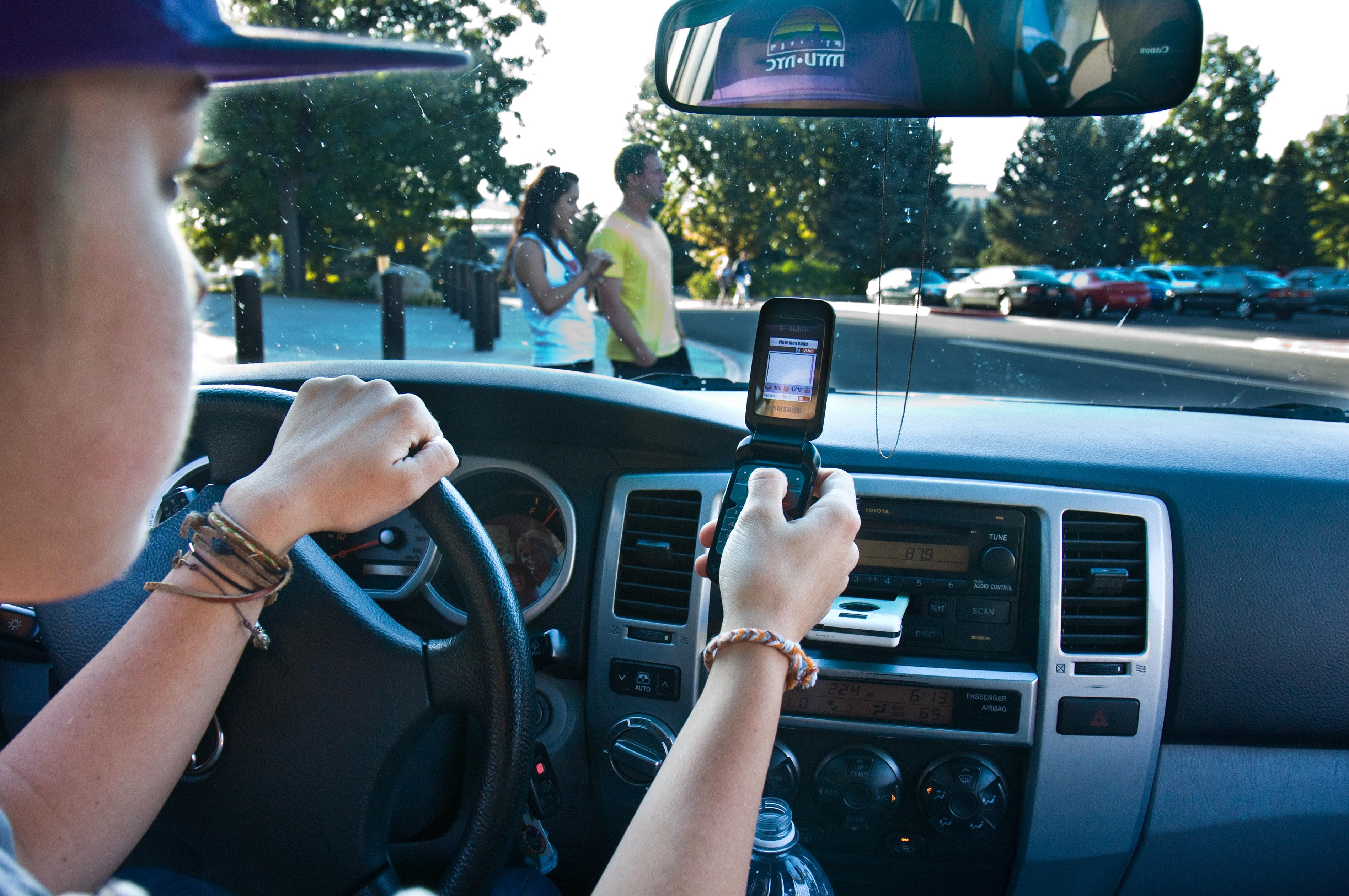 Texting And Driving Car Crash