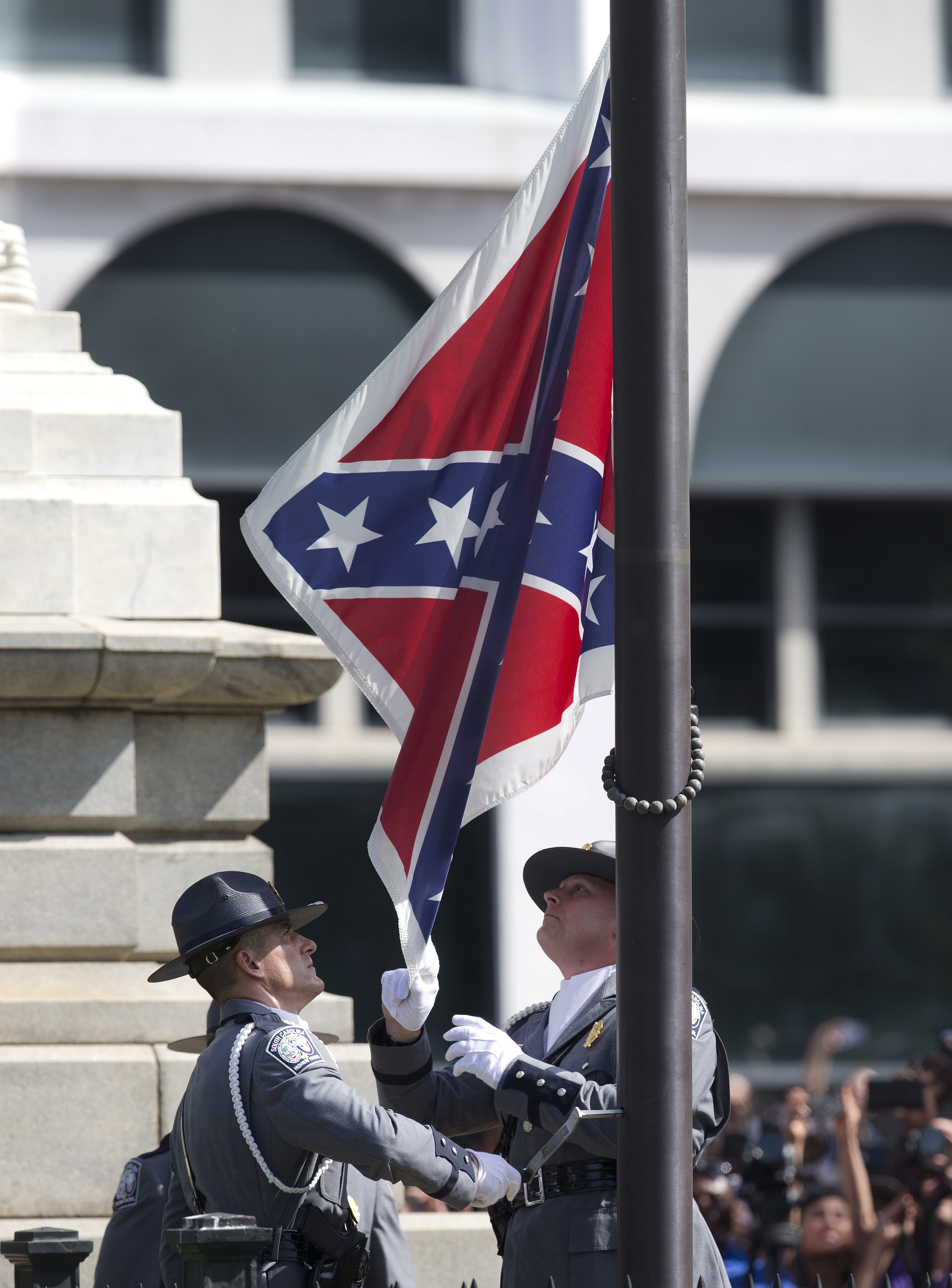 Confederate flag taken down in South Carolina after 54 years