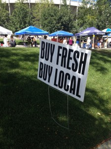 The BYU Farmers Market located in the south parking lot at the LeVell Edwards Stadium.