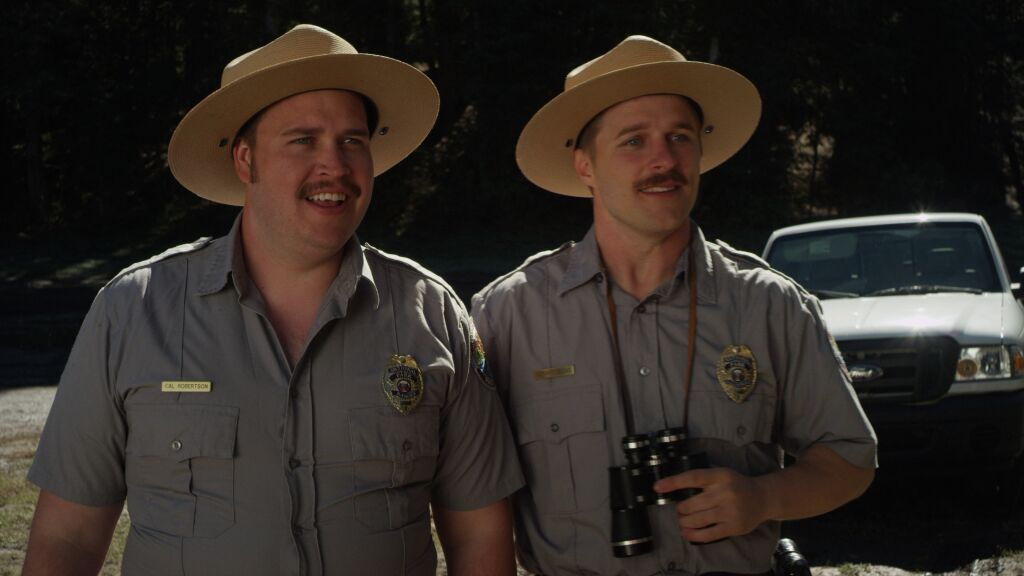 Maclain Nelson (right) has a small role as a dorky but lovable park ranger. The film is receiving good reviews from members of other faiths. (Nelson)