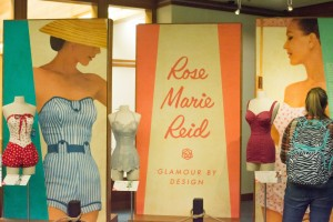 The Rose Marie Reid exhibit recently opened in the L. Tom Perry Special Collections area of the Harold B. Lee Library. Rose Marie began her fashion business in 1946, with an emphasis on swimwear. (Natalie Bothwell)
