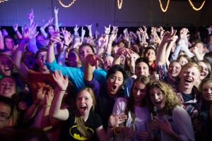 Students dance in tight crowds at BYU's Homecoming dance. This year, students have three dance options: casual, semi-formal and formal. The dance takes place on Friday, Oct. 9. (Elliott Miller)