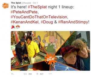 """""""The Splat"""" Twitter account announces the show line-up for the Oct. 5 premiere. (""""The Splat"""" official Twitter)"""