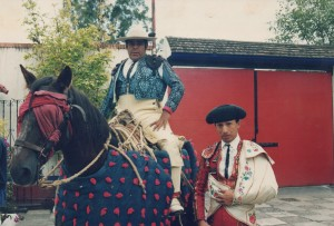 Miguel Lopez (right) felt empowered when he dressed in his matador suit.  (Miguel Lopez)