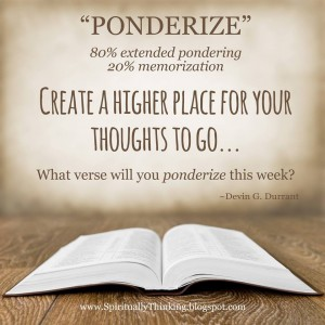 According to Elder Durrant, the definition of ponderize is 80 percent pondering and 20 percent memorizing. Durrant publicly apologized on Facebook for the website his son created to make a profit off the term. (Facebook)