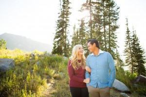 Amanda Baldwin and her fiancé Jonathon Rogers take their engagements. Baldwin and Rogers will marry in the middle of the BYU Fall semester. (Amanda Baldwin)