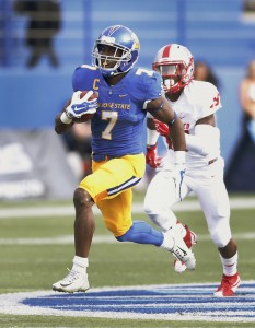 San Jose State's Tyler Ervin runs for a touchdown against New Mexico. The Cougars have been practicing to stop in for Friday's game. (Associate Press)