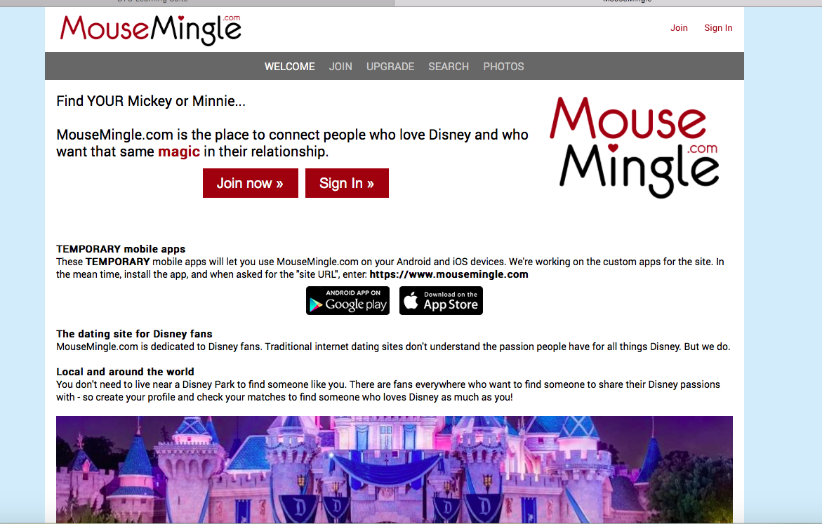 mouse mingle dating site