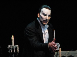 "Dallyn Bayles as Phantom in ""The Phantom of the Opera"" musical. (Lawrence Asher)"