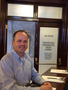 Rep. Hawkes at work at the Capitol. (Caitlin Thomas)