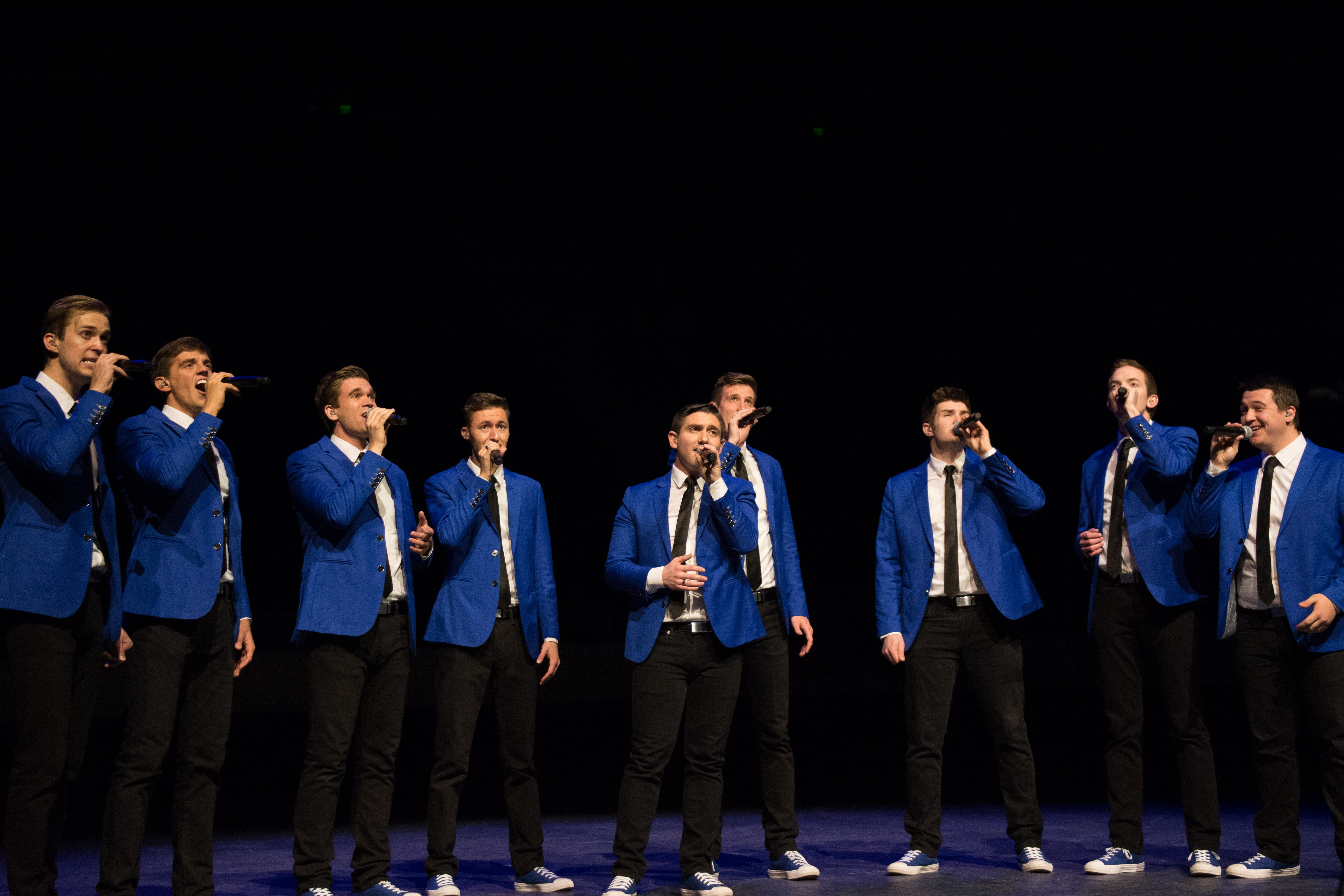 Vocal Point performs for the Devotional Performance Assembly.