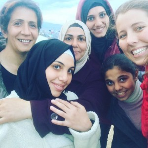 "Warden with members of her Syrian family. ""I saw them, and I was like, 'They will be my family forever,'"" said Warden. (Melena Warden)"