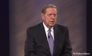 Elder Jeffry R. Holland answers questions during the LDS Face to Face through social media on March 8, 2016. (Screenshot)
