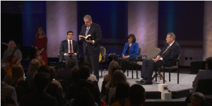 Elder Holland encourages members to be safe in regards to same-sex attraction in the church during the Face to Face event.