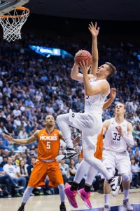 Kyle Collinsworth had 20 points, five rebounds, five assists and five steals in BYU's 72-70 loss to Valparaiso. (Ari Davis)