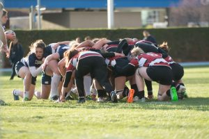 BYU in a scrum against Central Washington. (Universe Archives)