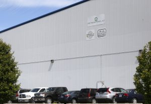 This May 11, 2016, photo, shows the outside of CRF Frozen Foods, LLC, in Pasco, Wash. The company shut down its processing operations over a listeria breakout that has sickened customers in several states. (Sarah Gordon/The Tri-City Herald via AP) LOCAL TELEVISION OUT; LOCAL RADIO OUT KONA