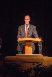 BYU mechanical engineering professor Timothy McLain told students to follow the feedback they receive from the Holy Ghost in his devotional address. (Maddi Driggs)