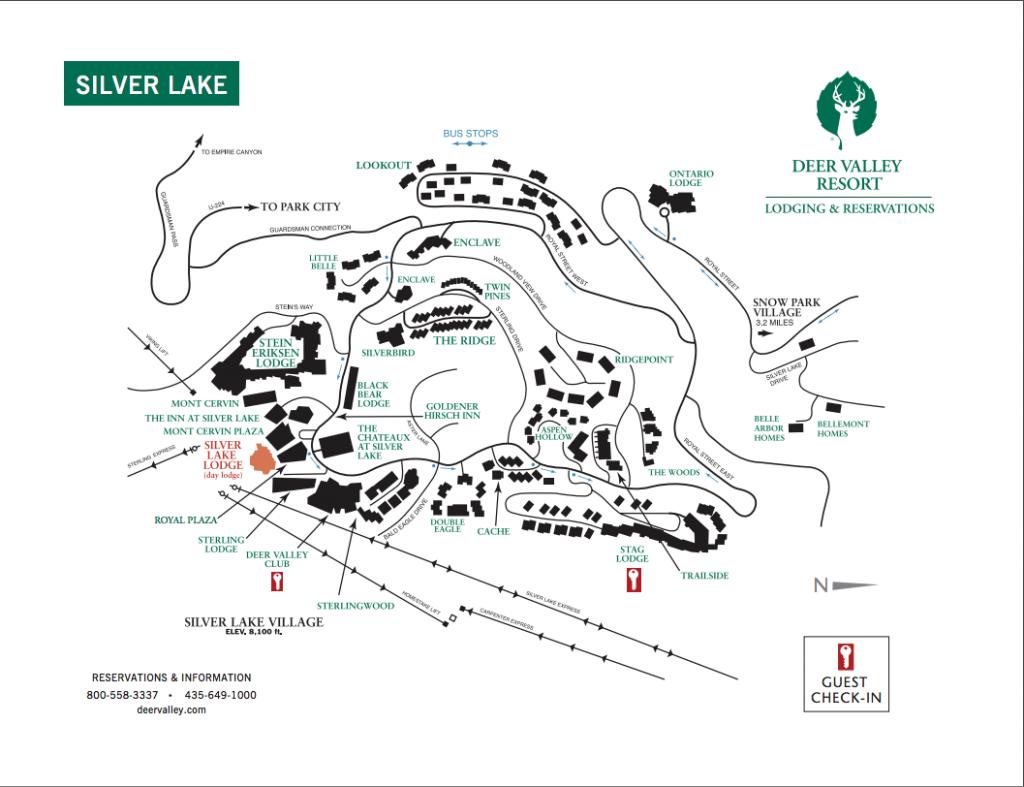 A map of Silver Lake Village at Deer Valley Resort. (Deer Valley Resort)