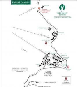 A map of Empire Pass at Deer Valley Resort. (Deer Valley Resort)
