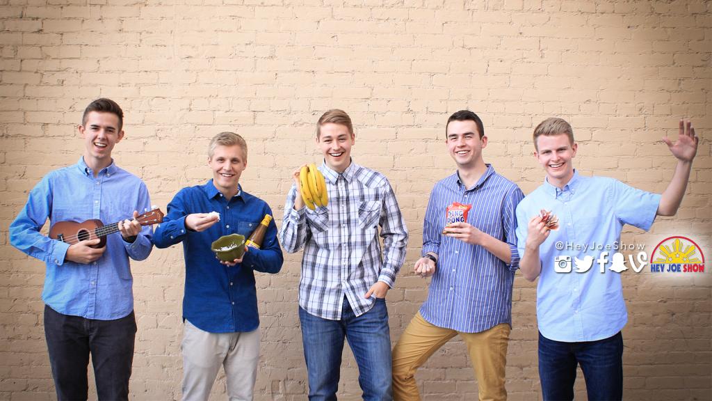 Hey Joe Show members from left to right: Sumner, Connor, Tylan, Davis, Jake