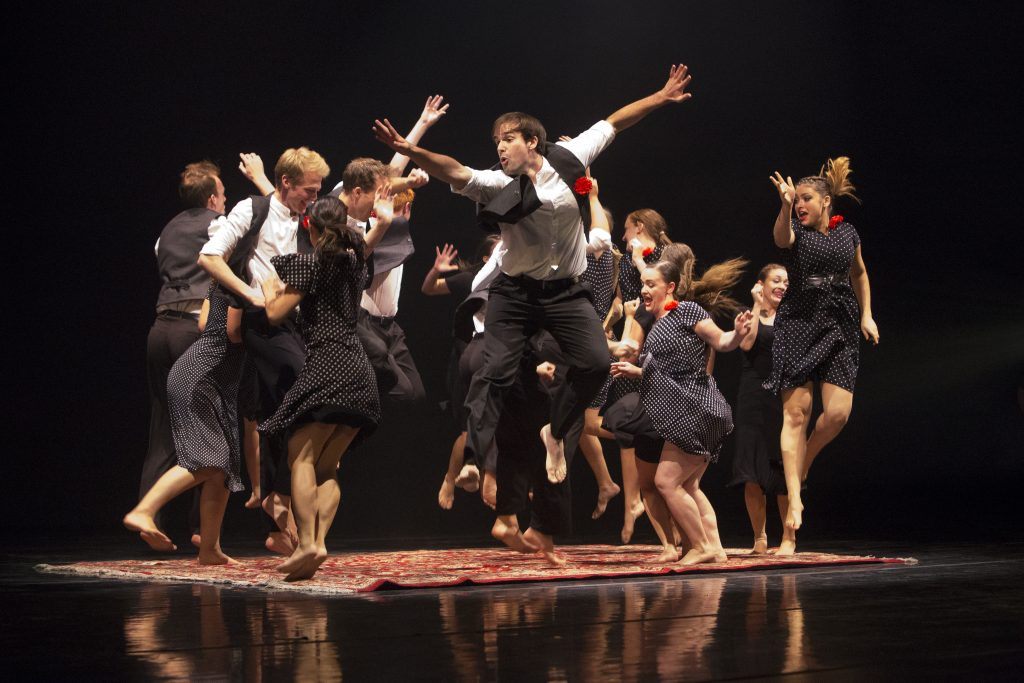 """The Contemporary Dance Theatre performs """"Ordinary Festivals."""" Numbers at the concert displayed various cultures and perspectives. (Gianluca Cuestas)"""