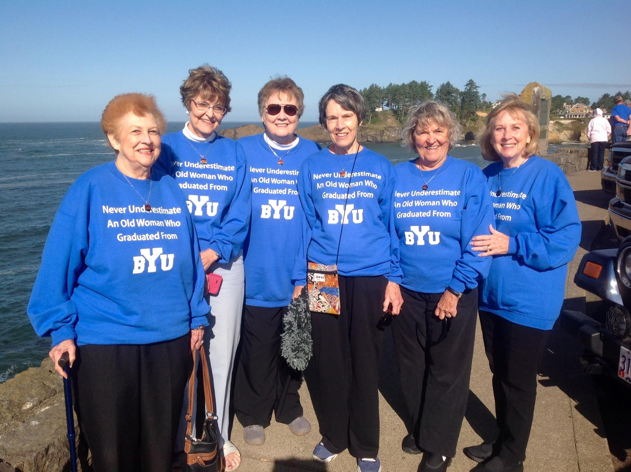Kay Hansen, JoAnne Elmer, Betty Moody, Joan Davenport, Dorene Sheldon, and Sharon Senecal at Depoe Bay, Oregon on September 27, 2016.