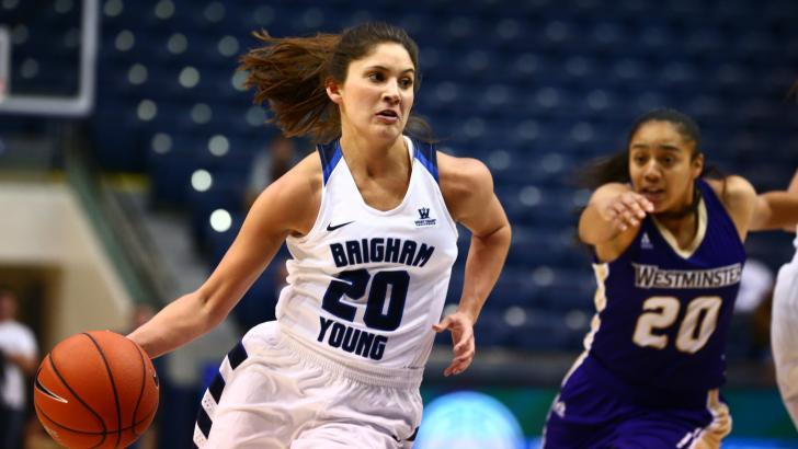 Cassie Broadhead is averaging 19.1 points per game for the Cougars and has scored 10 points or more in each of her last 16 games. (BYU Photo)
