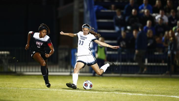 Ashley Hatch shoots the ball against UNLV. Hatch scored in BYU's victory over Oklahoma on Thursday night. (BYU Photo)