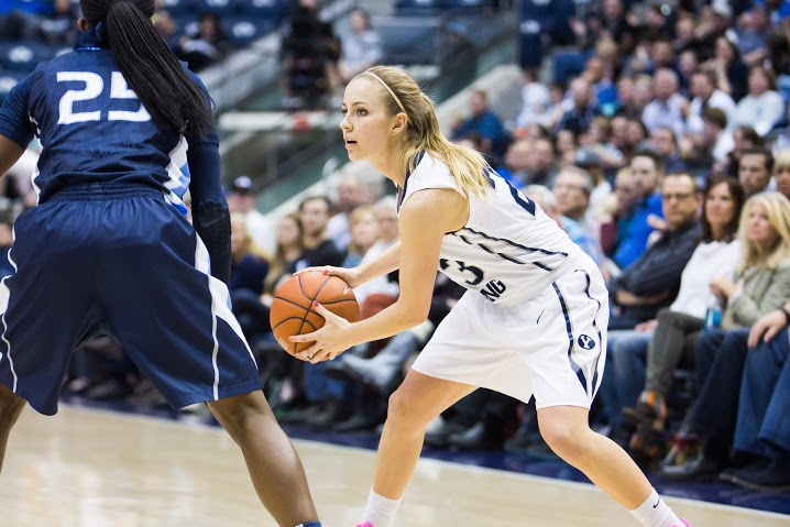 Makenzi Pulsipher handles the ball last season. Pulsipher was the team's second-leading scorer a year ago. (Ari Davis)