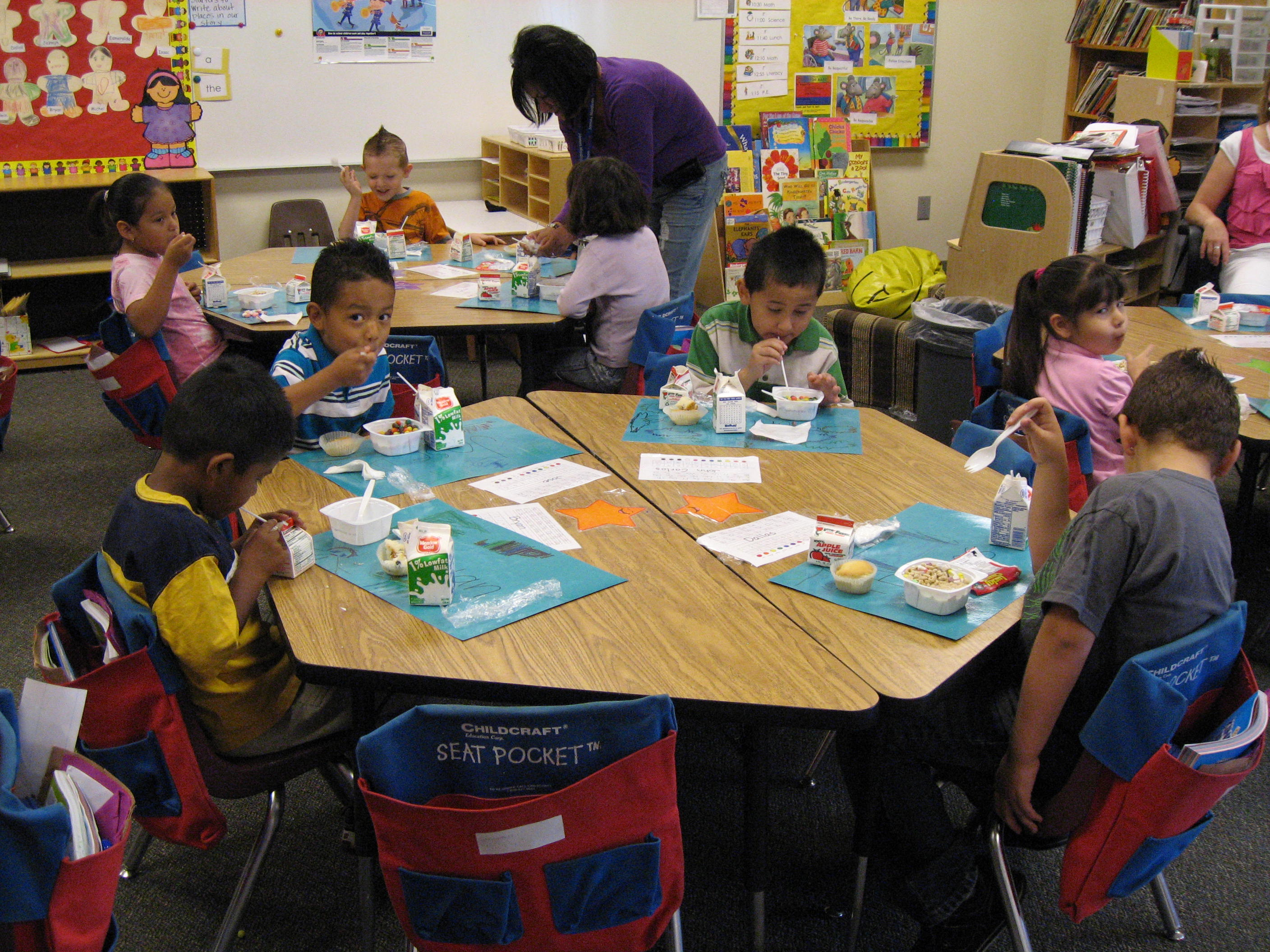 Students at a local elementary school participate in the Breakfast in the Classroom program. Marti Woolford, child nutrition advocate for Utahns Against Hunger, says these programs are very effective in increasing student participation and academic performance. (Utahns Against Hunger)