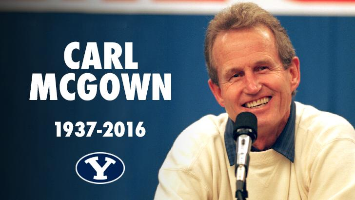 Legendary BYU men's volleyball head coach Carl McGown passed away today at the age of 79. (BYU Photo)