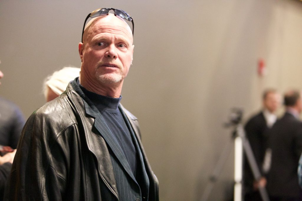 Jim McMahon attended Edwards' funeral service on Friday night. McMahon played in Provo from 1977-81. (Gianluca Cuestas)