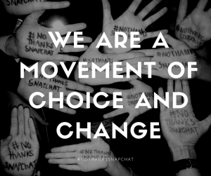We are a movement of choice and change (Malissa Richardson)