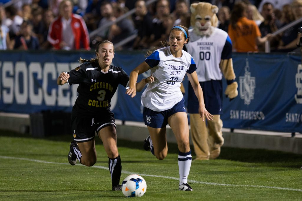 Ashley Hatch dribbles the ball at South Field. Hatch was drafted No. 2 overall in the NWSL Draft. (Ari Davis)