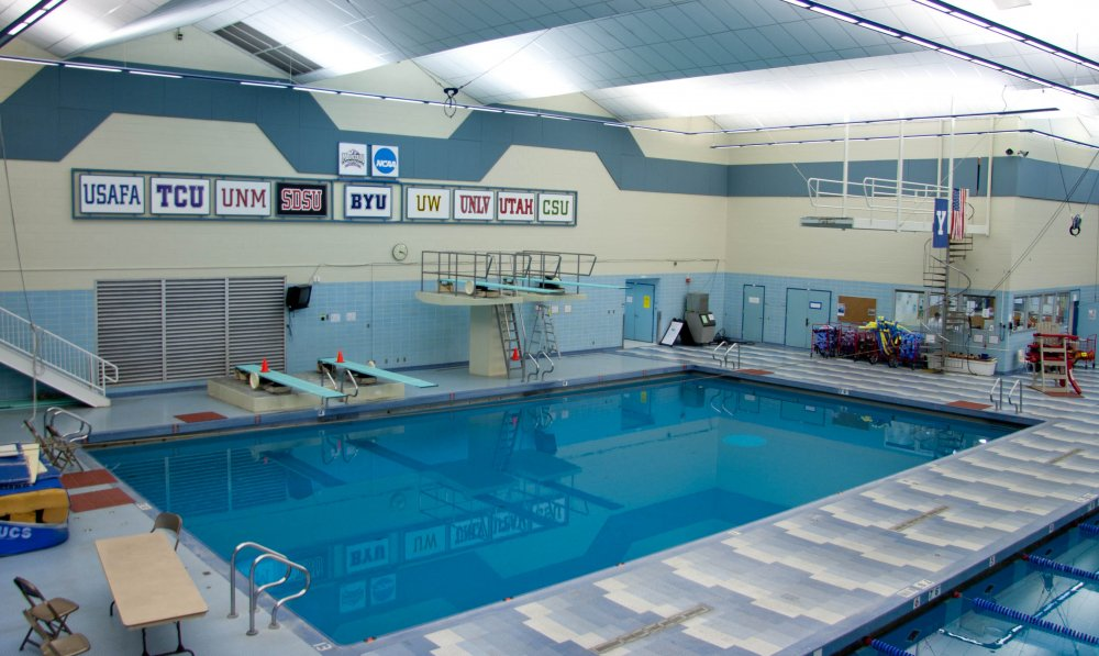 BYU's pool facilities. BYU announced the construction of a new pool that will begin in late March. (BYU)