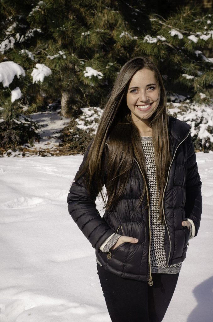 Courtney Odom models her Michael Kors jacket that she found at Nordstrom Rack, a popular off-price store. (Courtney Odom)