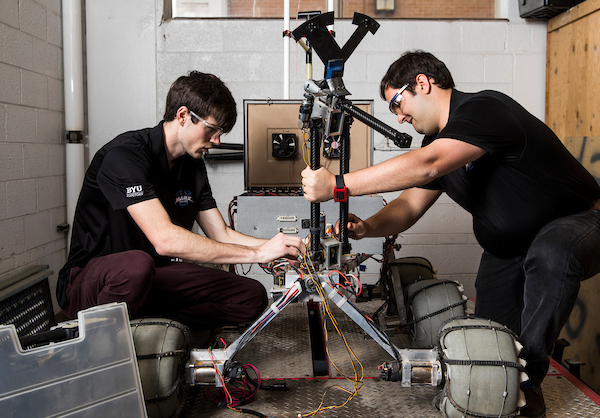 Equipped with new sensors, the rover can now move navigate autonomously (Jaren Wilkey).