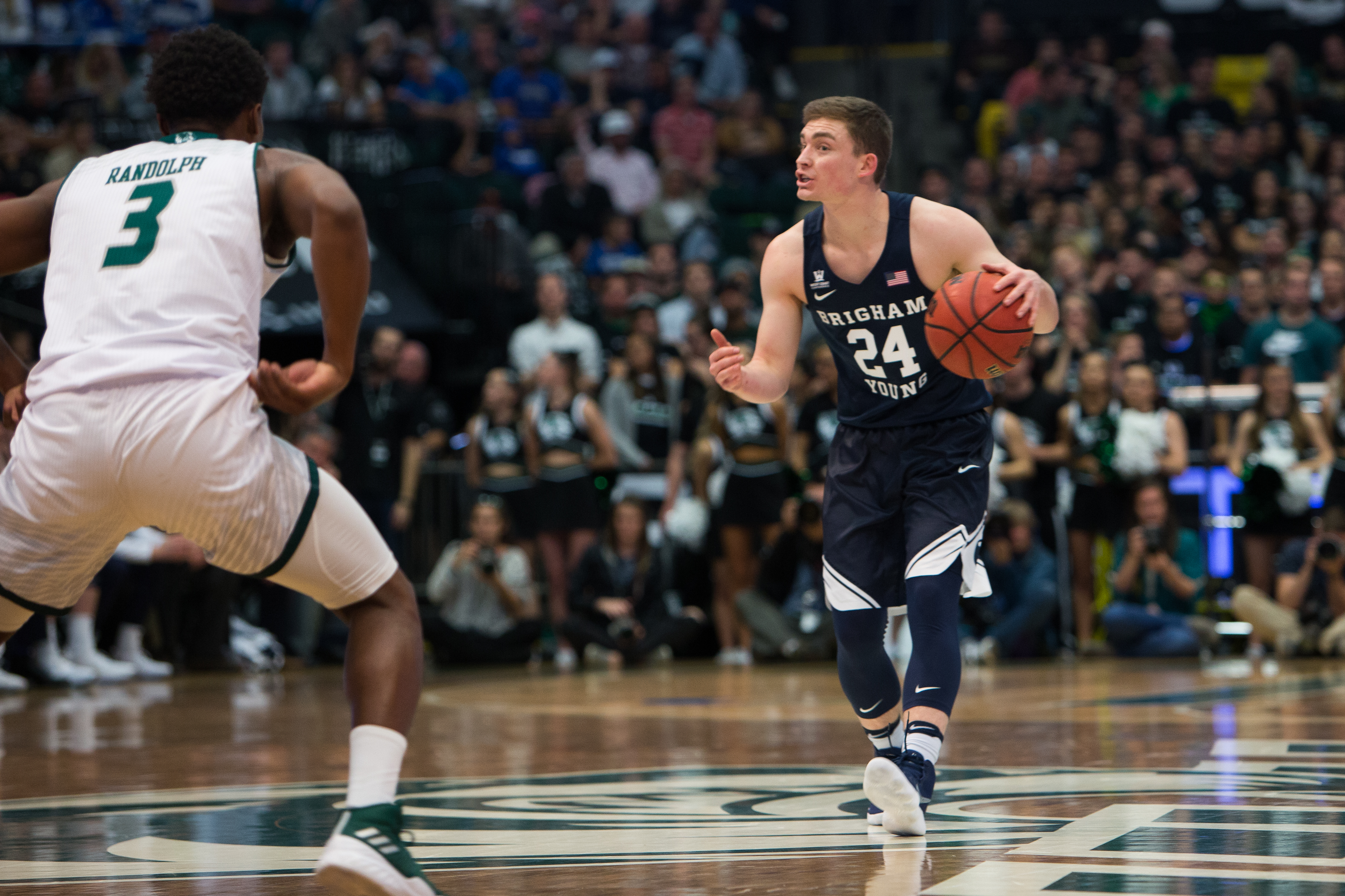 BYU men's basketball grinds out 75-66 win over Utah State