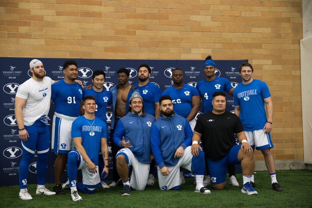 NFL hopefuls work out during BYU Pro Day