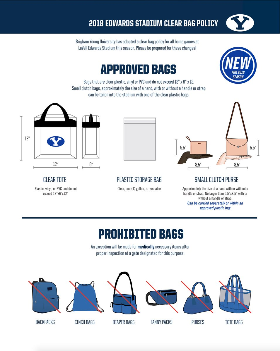 new clear bag policy for lavell edwards stadium the daily universe
