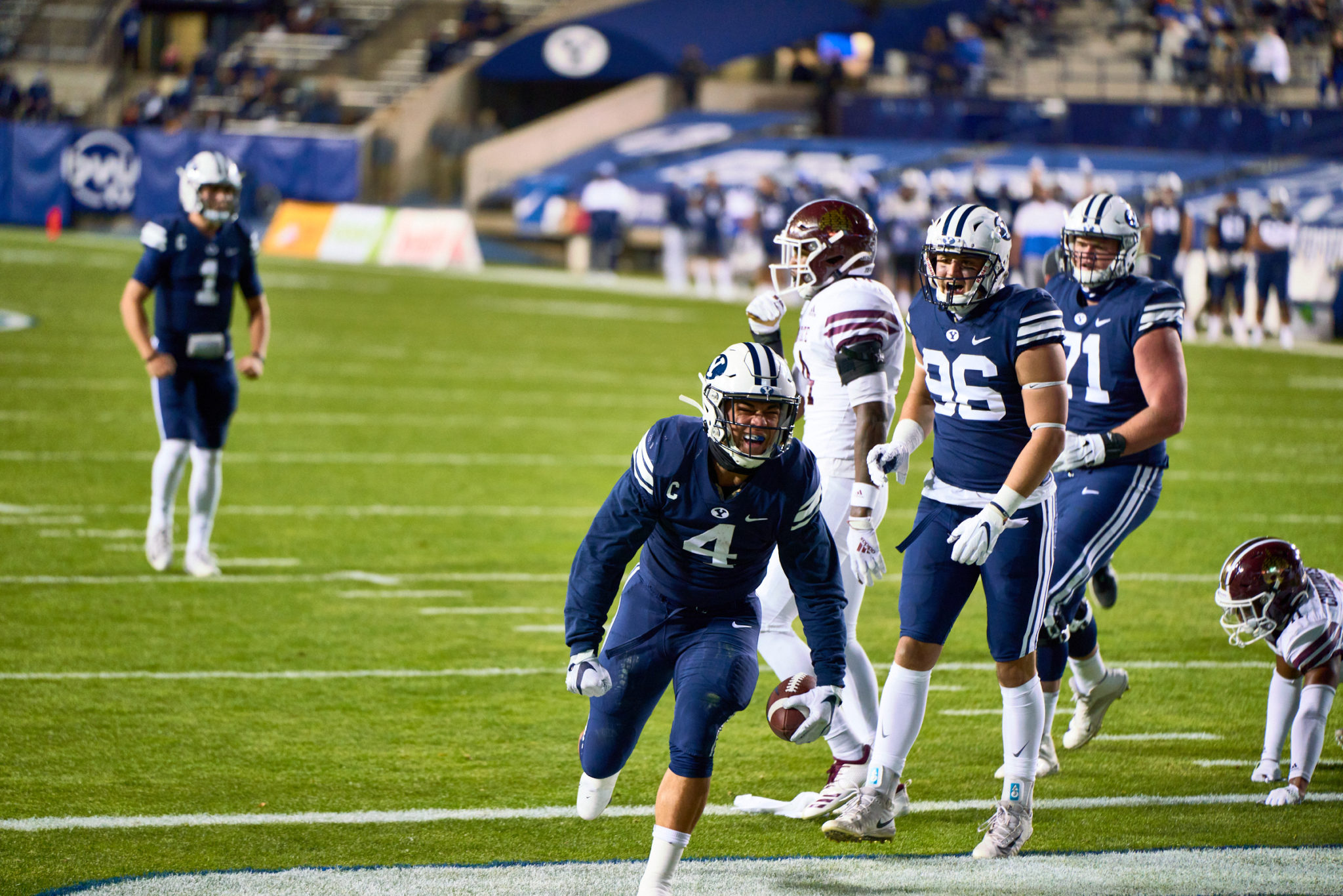 BYU Football gives fans a show with 52-14 win over Texas State