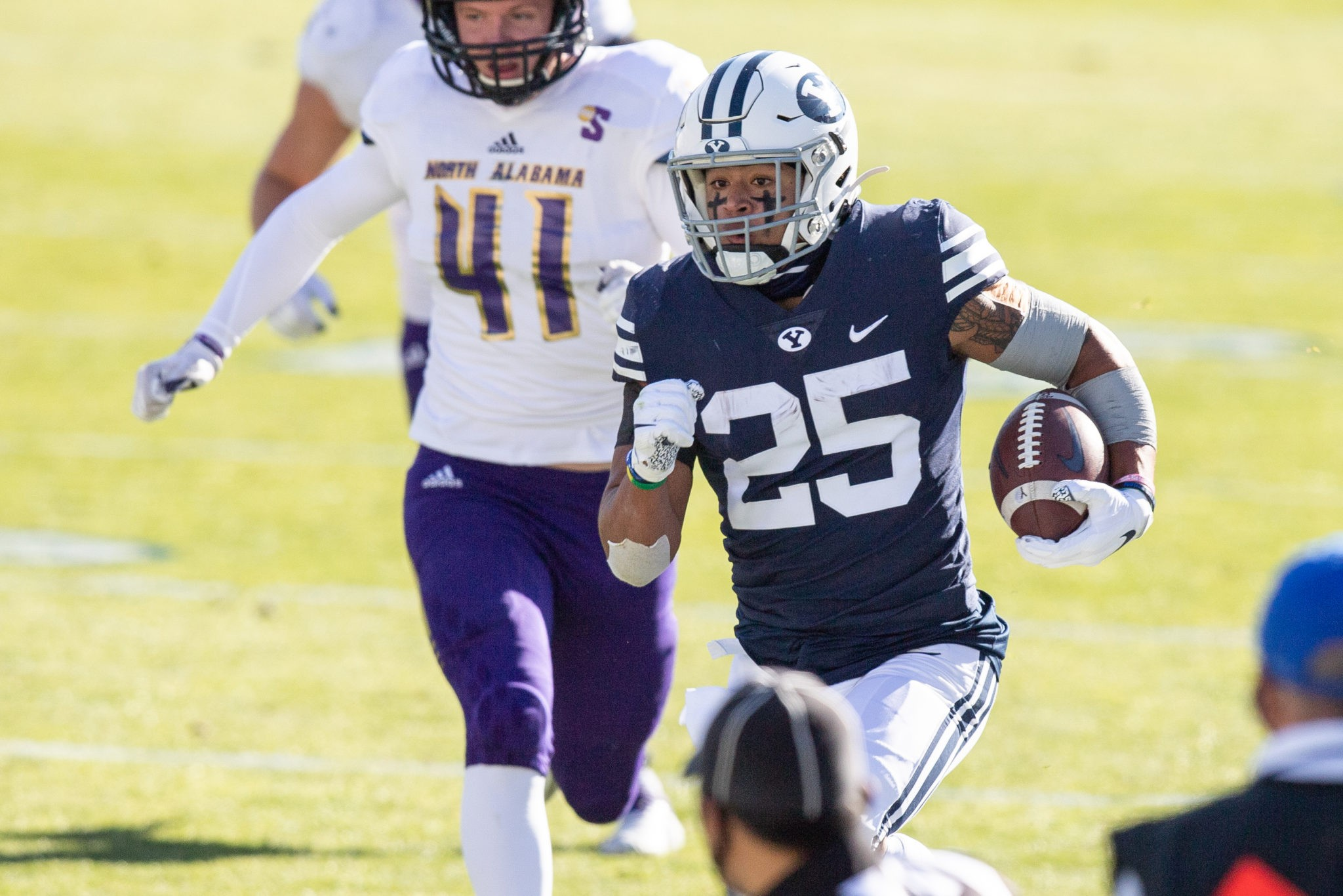 'Any team, any time, any place,' says Wilson in 66-14 win over North Alabama