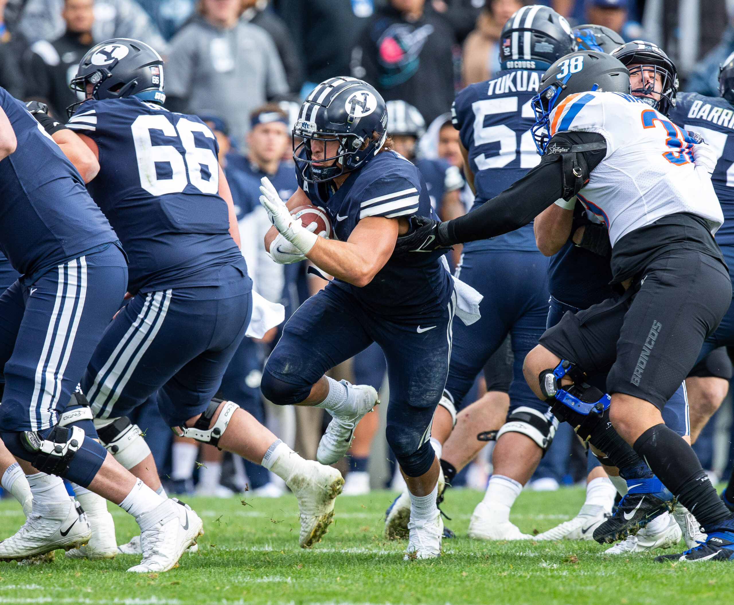BYU football fumbles away undefeated season 26-17 against Boise State
